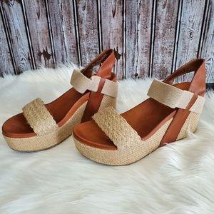 MIA Lenny camel wedge espadrille sandals